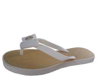 Дамски силиконови чехли бели EFUG-19320