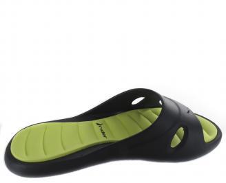 Дамски  силиконови чехли Rider черно/зелено LXPF-19327