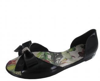 Дамски силиконови обувки черни ABOR-19768