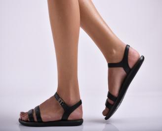 Дамски силиконови сандали  черни SEMJ-24576