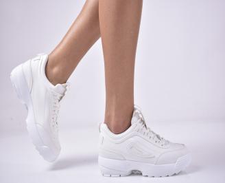 Дамски спортни  обувки  бели MOIP-1013275