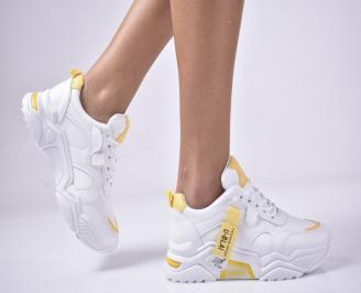 Дамски спортни  обувки  бели OKMI-1013288