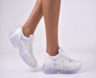 Дамски спортни обувки бели FTLO-1014164