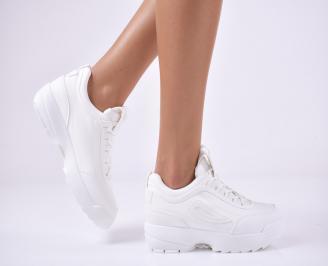 Дамски спортни  обувки  бели QFFL-1014177
