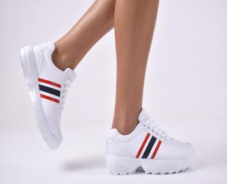 Дамски спортни обувки бели LVDQ-1014208