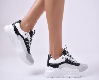 Дамски спортни обувки бял. QHWD-1014026