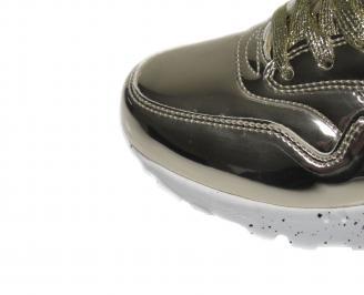 Дамски спортни обувки Bulldozer  еко кожа/лак златисти JMNU-21095