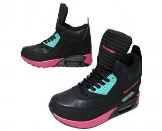 Дамски спортни обувки Bulldozer еко кожа черни WQIY-22038