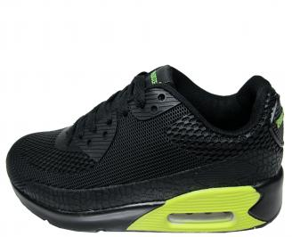 Дамски спортни обувки Bulldozer еко кожа черни RLON-22252