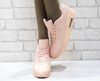 Дамски спортни обувки   Bulldozer еко кожа розови RRQY-25084