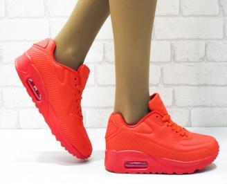 Дамски спортни обувки   Bulldozer еко кожа червени ECLR-25087