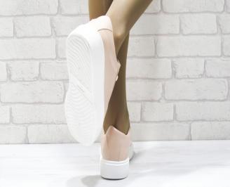 Дамски спортни обувки   Bulldozer еко кожа розови SIKD-25090