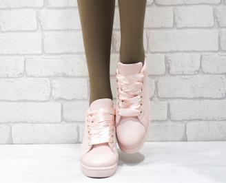 Дамски спортни обувки   Bulldozer еко кожа розови LMGY-25091