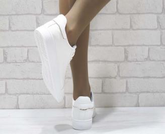Дамски спортни обувки   Bulldozer еко кожа бели OAQH-25092