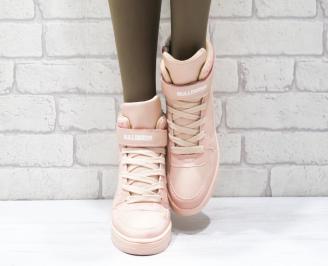Дамски спортни обувки   Bulldozer еко кожа розови ORZX-25104