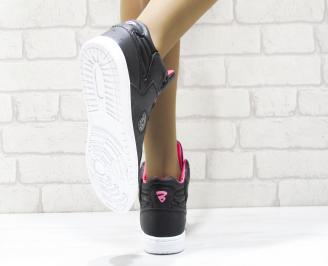 Дамски спортни обувки   Bulldozer еко кожа черни BDYR-25106