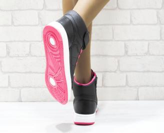 Дамски спортни обувки   Bulldozer еко кожа черни CERV-25107
