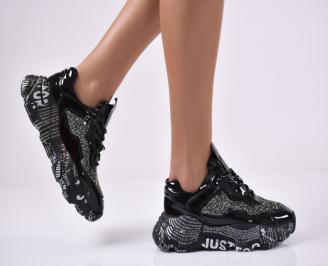 Дамски спортни обувки черни. CARJ-1014140