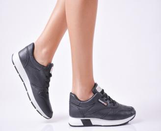 Дамски спортни обувки  еко кожа черни YISD-1010102