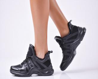 Дамски спортни обувки  еко кожа черни PJHR-1010106