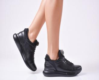 Дамски спортни обувки  еко кожа черни PGQY-1010128
