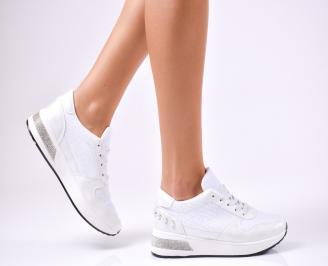 Дамски спортни обувки  еко кожа бели EONR-1010212