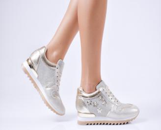 Дамски спортни обувки  еко кожа златисти BBHI-1010219