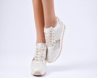 Дамски спортни обувки  еко кожа бежови PCVE-1010220