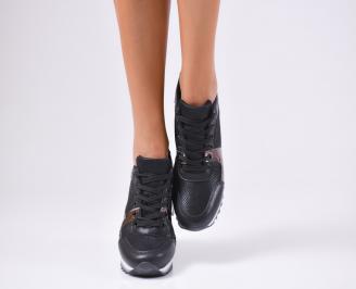 Дамски спортни обувки  еко кожа черни ZZLC-1010222