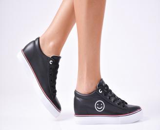 Дамски спортни  обувки еко кожа черни MZVX-1010253