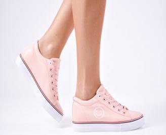 Дамски спортни  обувки еко кожа розови BJUJ-1010254