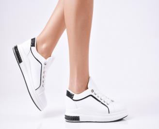Дамски спортни  обувки еко кожа бели PWPU-1010309
