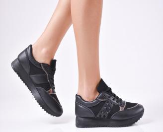 Дамски спортни  обувки еко кожа черни XNZZ-1010310