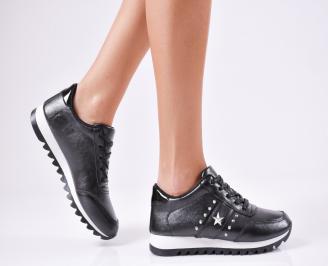 Дамски спортни  обувки еко кожа черни ZQPV-1010356