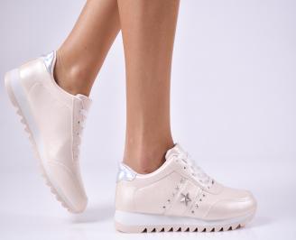 Дамски спортни  обувки еко кожа розови WLVX-1010357