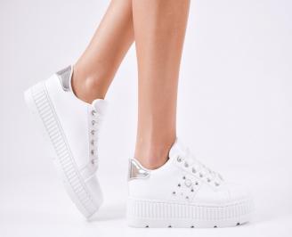 Дамски спортни  обувки еко кожа бели PXDF-1010361