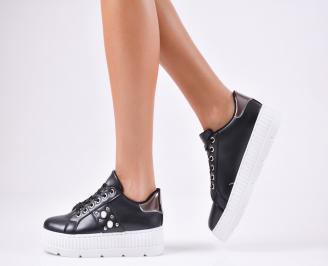 Дамски спортни  обувки еко кожа черни ZMIV-1010362