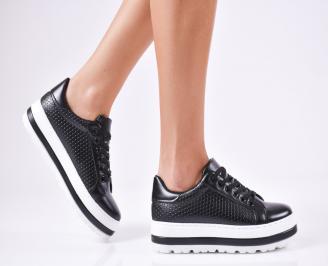Дамски спортни  обувки еко кожа черни IFGC-1010366