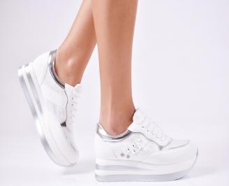 Дамски спортни  обувки еко кожа бели UMIQ-1010368