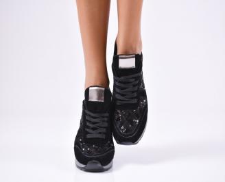 Дамски спортни  обувки еко кожа черни QJJO-1010370