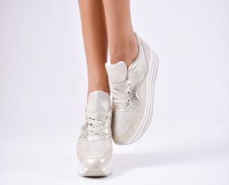 Дамски спортни  обувки еко кожа златисти KRTU-1010371