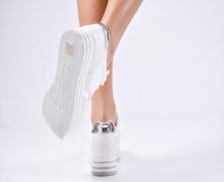 Дамски спортни  обувки еко кожа бели HKXB-1010372