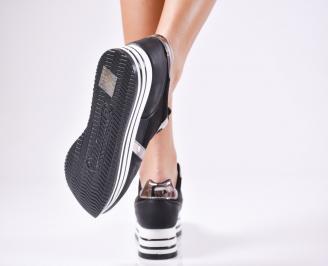 Дамски спортни  обувки еко кожа черни UUGN-1010373