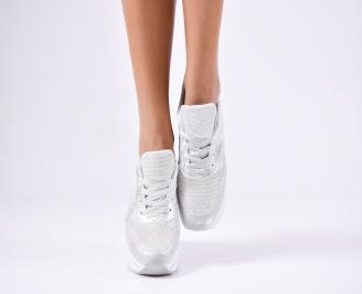Дамски спортни  обувки еко кожа сиви SVQQ-1010374