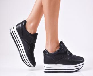 Дамски спортни  обувки еко кожа черни QZDC-1010375