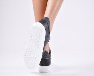 Дамски спортни  обувки еко кожа черни FNYJ-1010437