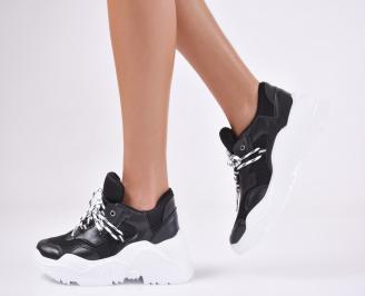 Дамски спортни обувки  еко кожа черни JFJN-1011070