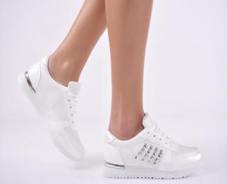 Дамски спортни  обувки еко кожа бели HAJI-1011118