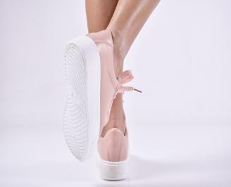 Дамски спортни  обувки еко кожа  розови EEIH-1011123