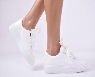 Дамски спортни  обувки еко кожа бяла UGIW-1011177